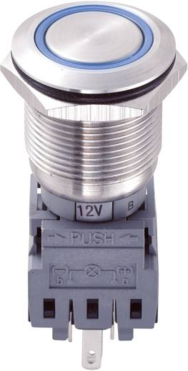 TRU Components LAS1-BGQ-11E/B/12V Vandalismebestendige druktoets 250 V/AC 5 A 1x uit/(aan) IP67 schakelend 1 stuks