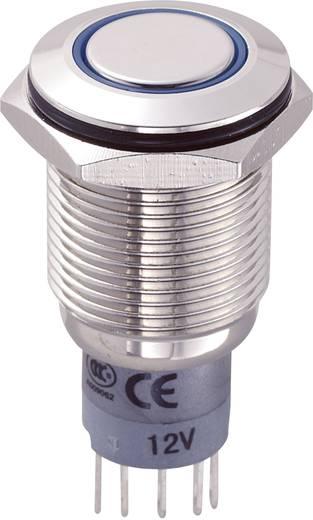 TRU Components LAS2GQF-11E/B/12V/N/P Vandalismebestendige druktoets 250 V/AC 3 A 1x aan/(aan) IP67 schakelend 1 stuks