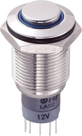 TRU Components LAS2GQH-11E/B/12V/N/P Vandalismebestendige druktoets 250 V/AC 3 A 1x aan/(aan) IP67 schakelend 1 stuks