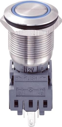 TRU Components LAS1-BGQ-11ZE/B/12V Vandalismebestendige drukschakelaar 250 V/AC 5 A 1x uit/aan IP67 vergrendelend 1 stuk