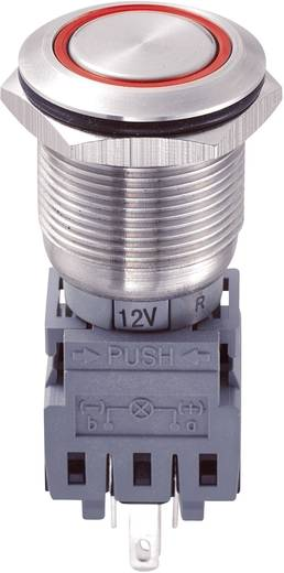 LAS1-BGQ-11ZE/R/12V Vandalismebestendige drukschakelaar 250 V/AC 5 A 1x uit/aan IP67 vergrendelend 1 stuks