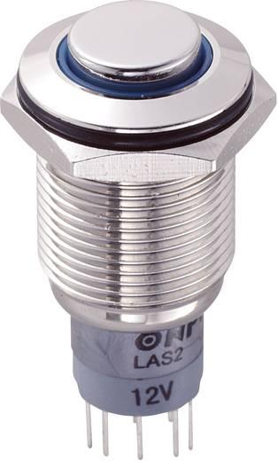 TRU Components LAS2GQH-22E/B/12V/N/P Vandalismebestendige druktoets 250 V/AC 3 A 2x aan/(aan) IP65 schakelend 1 stuks