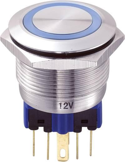 GQ22-11E/B/12V Vandalismebestendige druktoets 250 V/AC 5 A 1x aan/(aan) IP65 schakelend 1 stuks