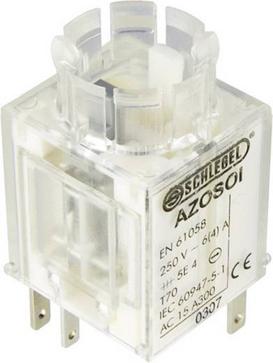 Contact element 2x NC, 1x NO schakelend 250 V/AC Schlegel AZOSOI 1 stuks