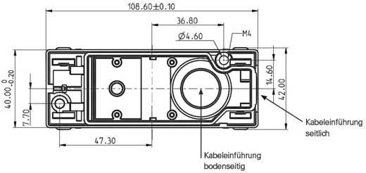 RAFI 1.20.810.305/0000 Lege behuizing Voor druktoets (l x b x h) 109 x 40 x 27 mm Grijs 1 stuks
