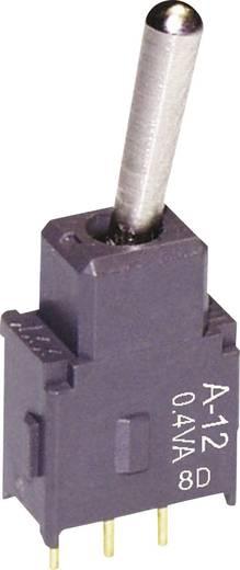 NKK Switches A12AH Tuimelschakelaar 28 V DC/AC 0.1 A 1x aan/aan vergrendelend 1 stuks
