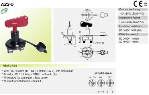 SCI A23-5 Auto accu schakelaar 24 V/DC 100 A 1x uit/aan vergrendelend 1 stuks
