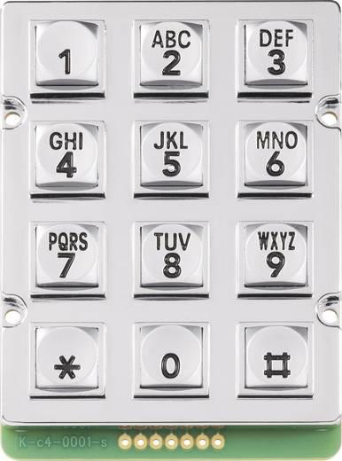 0031-010A-1P Druktoetsenveld Keypad matrix 3 x 4 1 stuks