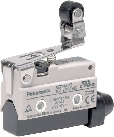 Panasonic AZ7144CEJ Eindschakelaar 115 V/DC, 250 V/AC 10 A Rolhefboom schakelend IP64 1 stuks
