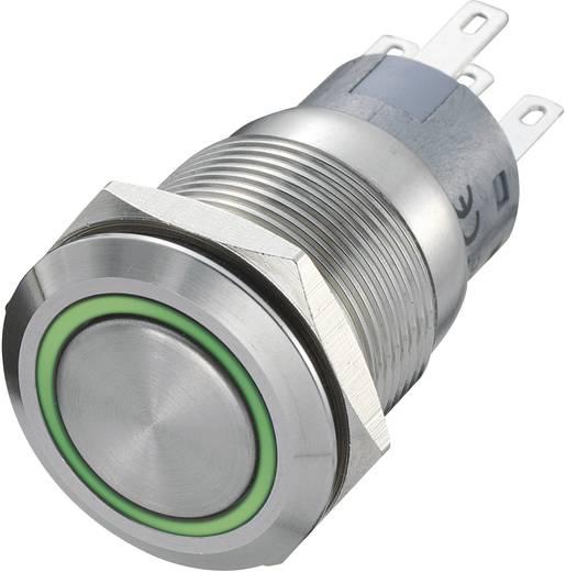 TRU Components LAS1-AGQ-11E/R-G Vandalismebestendige druktoets 250 V/AC 5 A 1x uit/(aan) IP67 schakelend 1 stuks