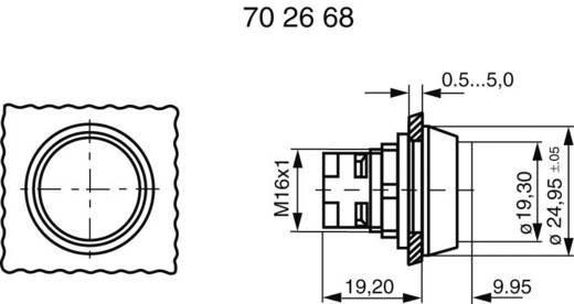 RAFI 130070071/1002 Druktoets Bedieningsknop opstaand Transparant 1 stuks