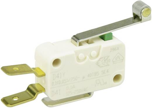 Cherry Switches D413-V3RD Microschakelaar 250 V/AC 0.1 A 1x aan/(aan) schakelend 1 stuks