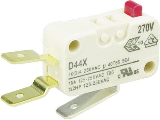 Cherry Switches D449-V3AA Microschakelaar 250 V/AC 10 A 1x aan/(aan) schakelend 1 stuks
