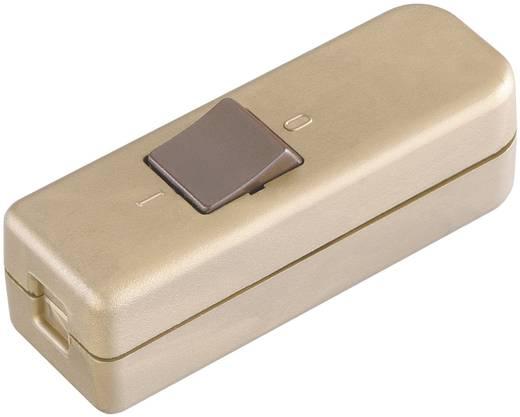 interBär Snoer-tussenschakelaar 250 V/AC 6 A 1-polig, uitschakelaar Goud
