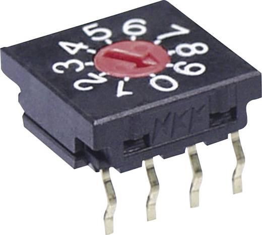 NKK Switches FR01FR10P-S Draaischakelaar 50 V/DC 0.1 A Schakelposities 10 1 stuks