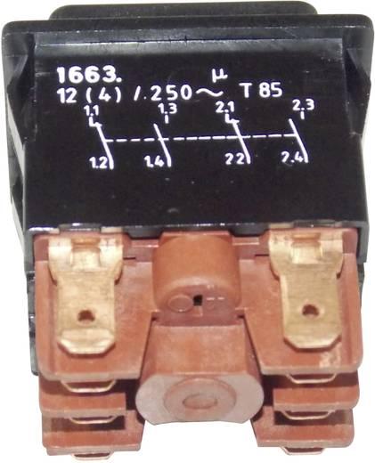 Marquardt 1663.0101 Druktoets 250 V/AC 12 A 2x aan/(aan) IP40 schakelend 1 stuks