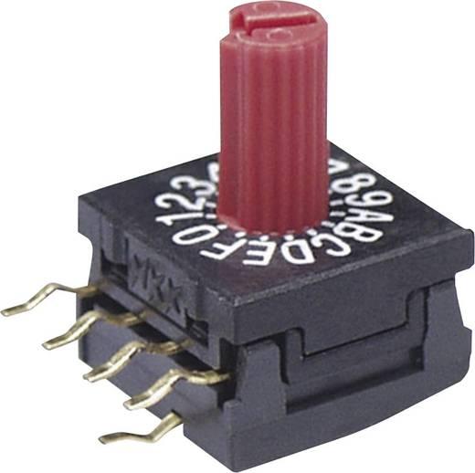 NKK Switches FR01KR16P-S Draaischakelaar 50 V/DC 0.1 A Schakelposities 16 1 stuks