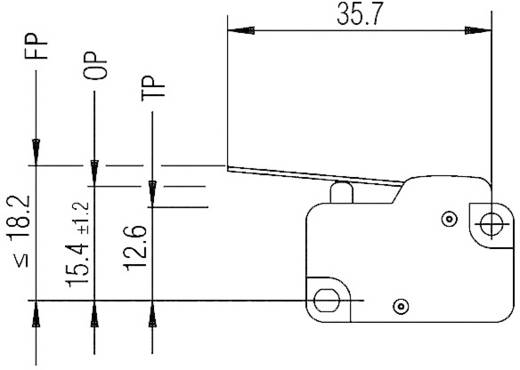 Marquardt 1006.1401 Microschakelaar 250 V/AC 10 A 1x aan/(aan) schakelend 1 stuks