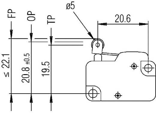 Marquardt 1006.1201 Microschakelaar 250 V/AC 10 A 1x aan/(aan) schakelend 1 stuks