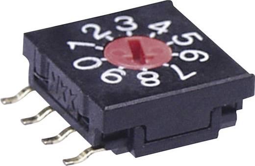 NKK Switches FR02FR10P-S Draaischakelaar 5 V/DC 0.1 A Schakelposities 10 1 stuks