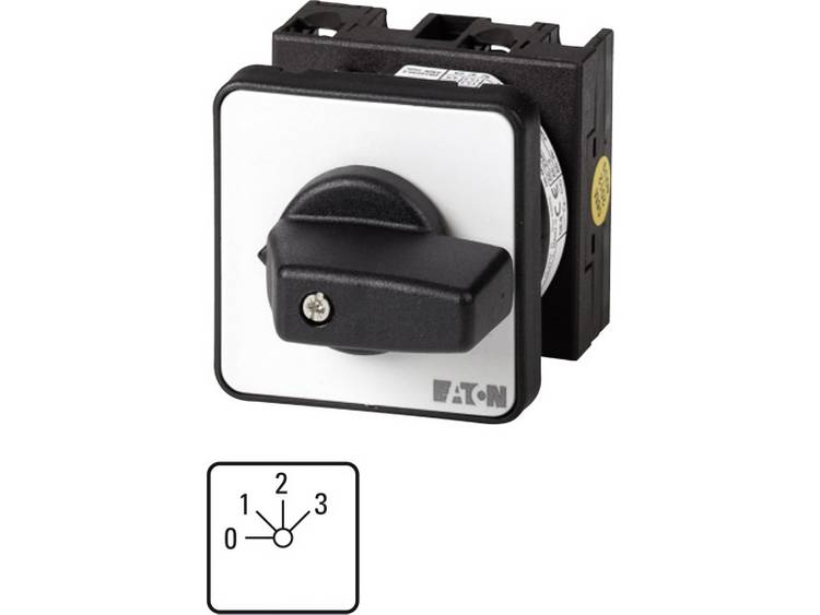 Eaton T0-2-8241/E Nokkenschakelaar 20 A 3 x 40 ° Grijs, Zwart 1 stuks