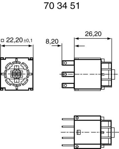 Contact element Met fitting 1x NC, 1x NO schakelend 42 V RAFI 1.20122.011 1 stuks
