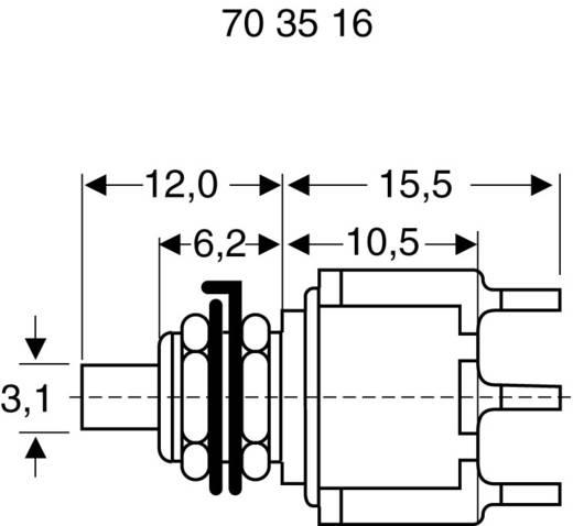 Eledis 5A21-F3STSE-B0 Druktoets 230 V/AC 0.5 A 2x aan/(aan) schakelend 1 stuks