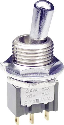 NKK Switches M2012LL4G01 Tuimelschakelaar 28 V DC/AC 0.1 A 1x aan/aan vergrendelend 1 stuks