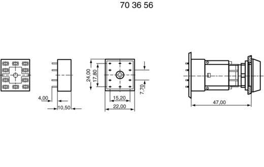Printplaat socket 1x NC, 1x NO RAFI 5.05510.646 1 stuks