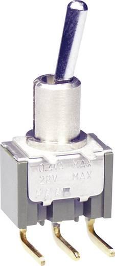 NKK Switches M2012SS2G45 Tuimelschakelaar 28 V DC/AC 0.1 A 1x aan/aan vergrendelend 1 stuks