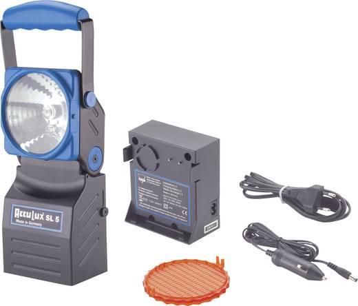AccuLux SL 5 Werk- en noodstroomschijnwerper SL5 set 4 V halogeenlamp, pilotlamp Nichia 5 mm LED Zwart, Blauw