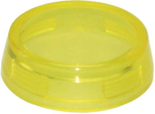 Idec YW9Z-PL12TA Bolkap Geribbeld (Ø x h) 29.8 mm x 14.5 mm Zonder markering Oranje 1 stuks