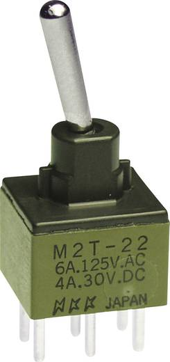 NKK Switches M2T22SA5W03 Tuimelschakelaar 250 V/AC 3 A 2x aan/aan vergrendelend 1 stuks