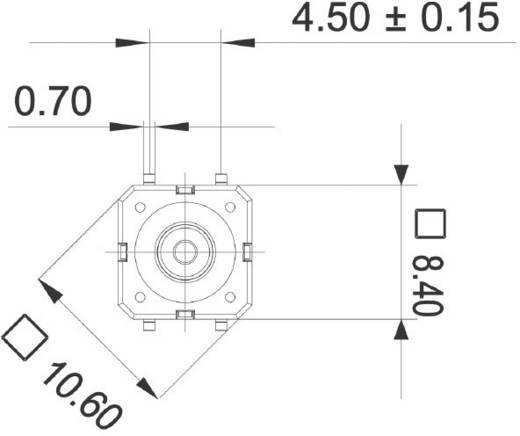 RAFI 114100501 Druktoets 42 V DC/AC 0.1 A 1x uit/(aan) schakelend 1 stuks