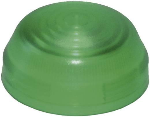 Idec YW9Z-PL12TG Bolkap Geribbeld (Ø x h) 29.8 mm x 14.5 mm Zonder markering Groen 1 stuks