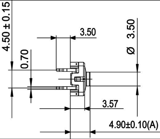 RAFI 114100502 Druktoets 42 V DC/AC 0.1 A 1x uit/(aan) schakelend 1 stuks
