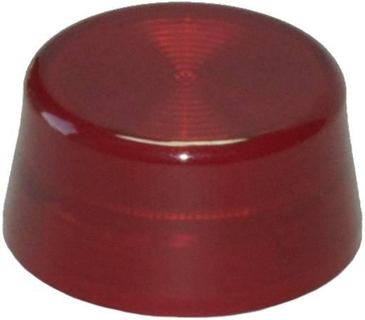 Idec IDEC YW-serie Bolkap Geribbeld (Ø x h) 29.8 mm x 14.5 mm Zonder markering Rood 1 stuks
