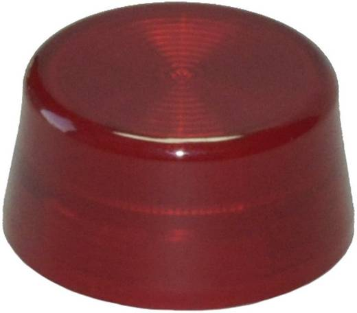 Idec YW9Z-PL12R Bolkap Geribbeld (Ø x h) 29.8 mm x 14.5 mm Zonder markering Rood 1 stuks