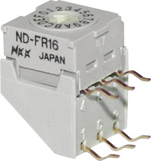 NKK Switches NDFC10P Draaischakelaar 5 V/DC 0.1 A Schakelposities 10 1 stuks