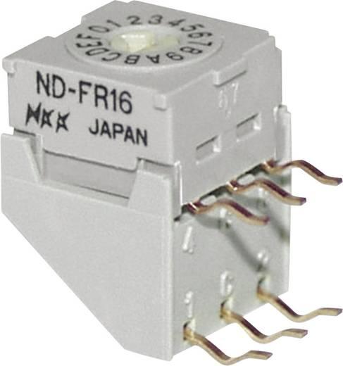 NKK Switches NDFR16H Draaischakelaar 5 V/DC 0.1 A Schakelposities 16 1 stuks