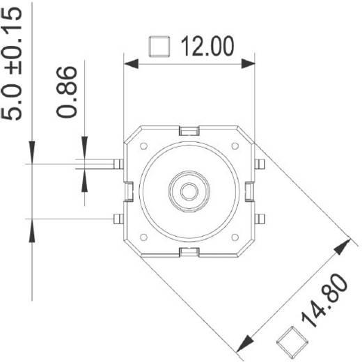 RAFI 114001501 Druktoets 42 V DC/AC 0.1 A 1x uit/(aan) schakelend 1 stuks