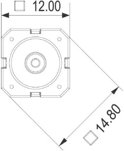 RAFI 114001502 Druktoets 42 V DC/AC 0.1 A 1x uit/(aan) schakelend 1 stuks