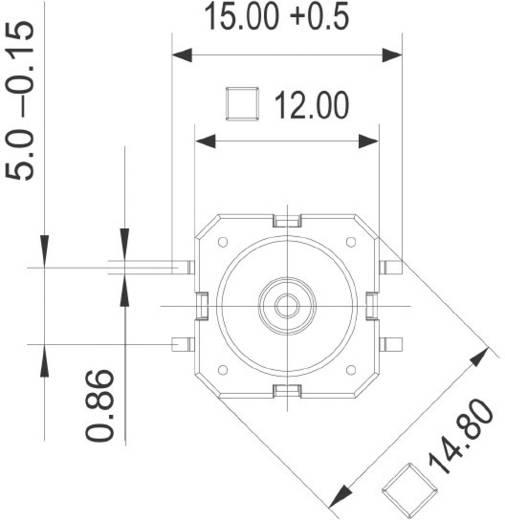 RAFI 114001503 Druktoets 42 V DC/AC 0.1 A 1x uit/(aan) schakelend 1 stuks
