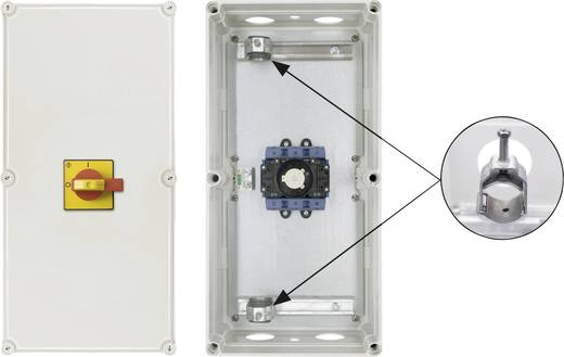 Reparatieschakelaar Uitschakelbaar 1 x 90 ° Rood, Geel Kraus & Naimer KG125 T203/D-A082 STM 1 stuks