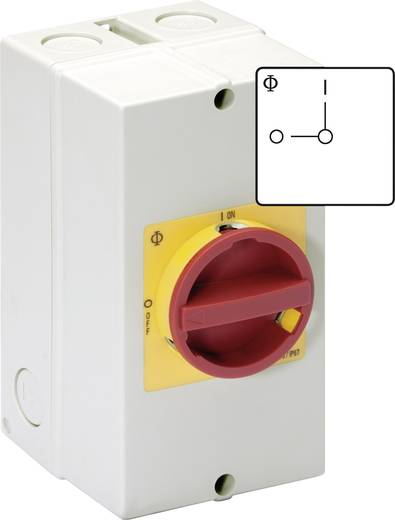 Reparatieschakelaar Uitschakelbaar 20 A 1 x 90 ° Rood, Geel Kraus & Naimer KG10 T206/40 KS51V 1 stuks