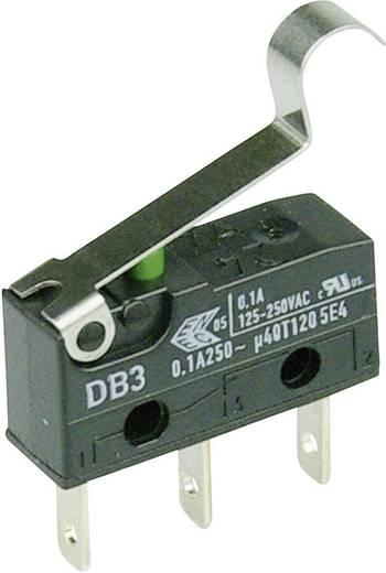 Cherry Switches DB3C-B1SC Microschakelaar 250 V/AC 0.1 A 1x aan/(aan) schakelend 1 stuks