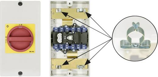 Reparatieschakelaar Uitschakelbaar 1 x 90 ° Rood, Geel Kraus & Naimer KG64B T206/D-A066 KL71V 1 stuks