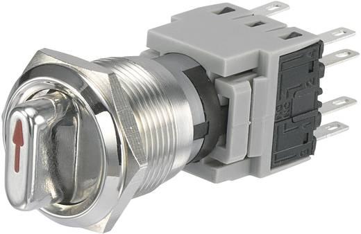 TRU Components LAS1-BGQ-22X/33 Vandalismebestendige draaischakelaar 250 V/AC 5 A Schakelposities 2 1 x 90 ° IP40 1 stuks