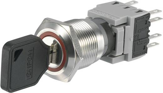 Conrad Components LAS1-BGQ-22Y/32 Sleutelschakelaar 250 V/AC 5 A 2x aan/uit/(aan) 2 x 90 ° IP40 1 stuks