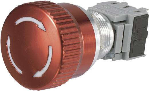 Noodstop schakelaar 250 V/AC 5 A 1x NC, 1x NO TRU Components LAS1-BGQ-11TS IP40 1 stuks